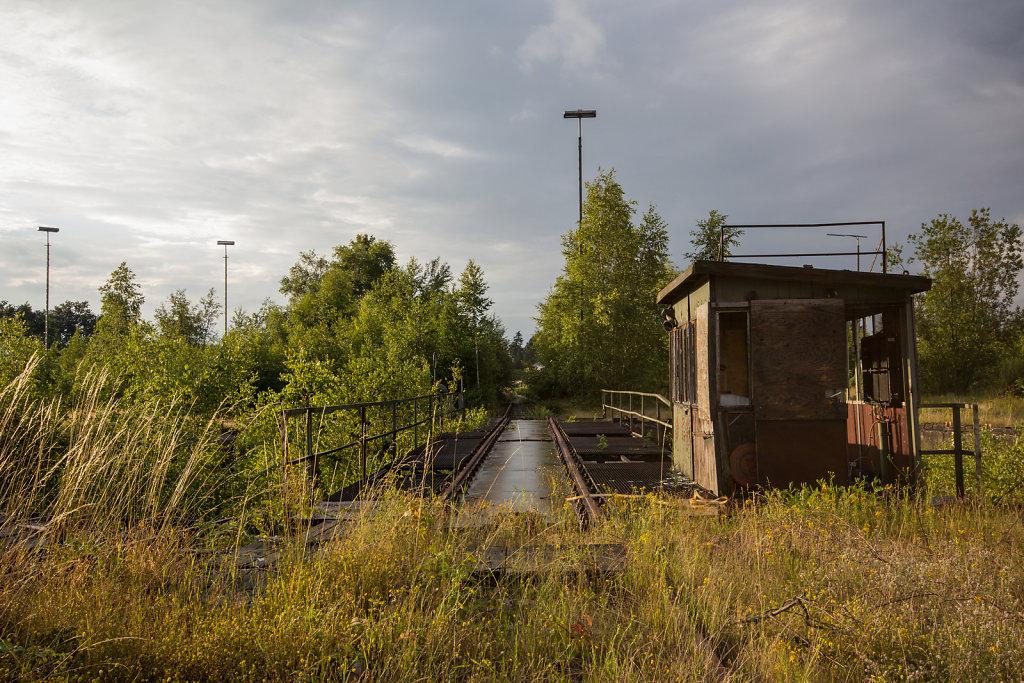 Abstellbahnhof Lehe: Drehscheibe