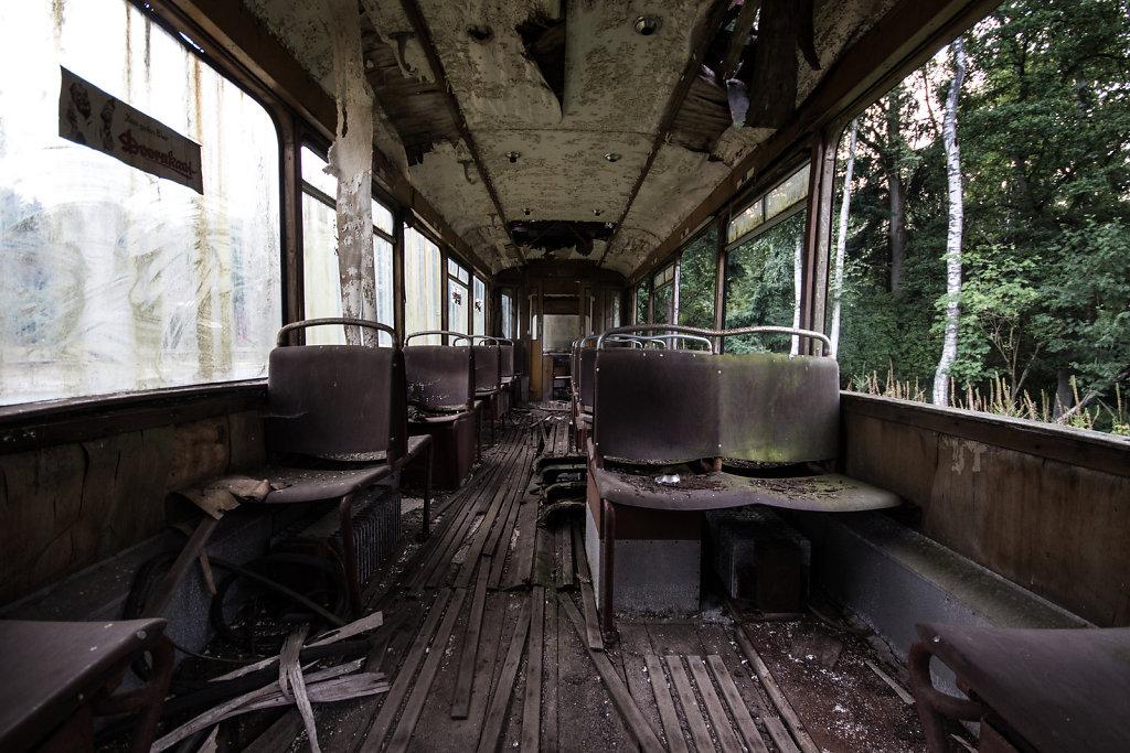 Straßenbahn von innen